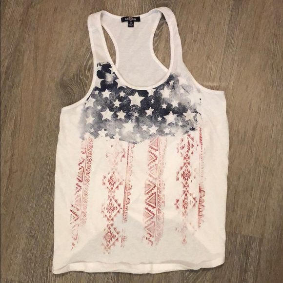 Ransom Tops - Distressed USA Flag Tank Top